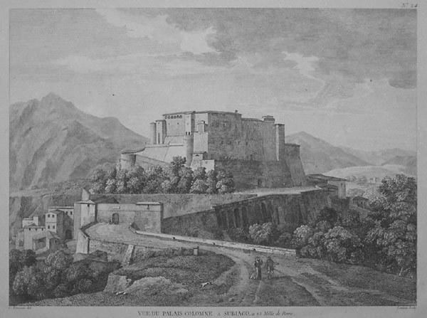 C.C. Bourgeois - Vue du Palais Culomne a Subiaco (1805 - da maremagnum.com)