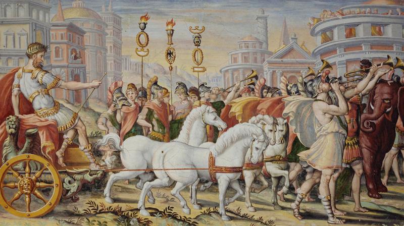 Trionfo di Scipione l'Africano - Affresco del XVI sec.